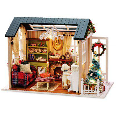 Buy COLORMIX DIY Miniature Wooden Dollhouse with LED Light for $18.82 in GearBest store