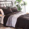 Buy COLORMIX 3-piece Polyester Bedding Set White / Grey / Deep Brown Stripes for $49.24 in GearBest store