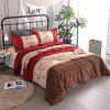 Buy COLORMIX 3-piece Polyester Bedding Set Red Flowers / Stripes for $49.24 in GearBest store