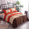 Buy COLORMIX 3-piece Polyester Bedding Set Jacinth Flowers / Stripes for $53.54 in GearBest store