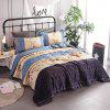 Buy COLORMIX 3-piece Polyester Bedding Set Light Blue Flowers / Stripes for $53.54 in GearBest store
