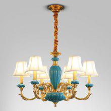 DJB1040 Full Copper Six Head Chandelier 220V