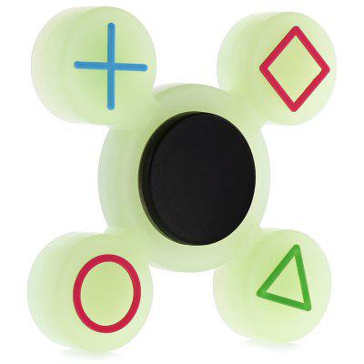 Four-blade Luminous Silicone Fidget Spinner