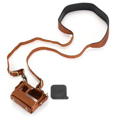 TELESIN Action Camera Leather Case Kit
