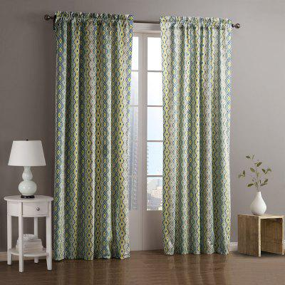 Ink-jet Printing Wavy Pattern Window Curtains 52 x 84 inch