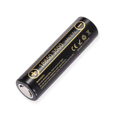 LiitoKala Lii - 35A 18650 Li-ion Rechargeable BatteryBatteries<br>LiitoKala Lii - 35A 18650 Li-ion Rechargeable Battery<br><br>Battery: 18650<br>Battery Type: Lithium-ion<br>Brand: LiitoKala<br>Capacity (mAh): 3500mAh<br>Head Type: Button Top<br>Package Contents: 1 x LiitoKala 3500mAh Li-ion Rechargeable Battery<br>Package size (L x W x H): 2.80 x 2.80 x 7.50 cm / 1.1 x 1.1 x 2.95 inches<br>Package weight: 0.0800 kg<br>Product size (L x W x H): 1.80 x 1.80 x 6.50 cm / 0.71 x 0.71 x 2.56 inches<br>Product weight: 0.0500 kg<br>Protected: No<br>Rechargeable: Yes<br>Type: Battery<br>Voltage(V): 3.7V