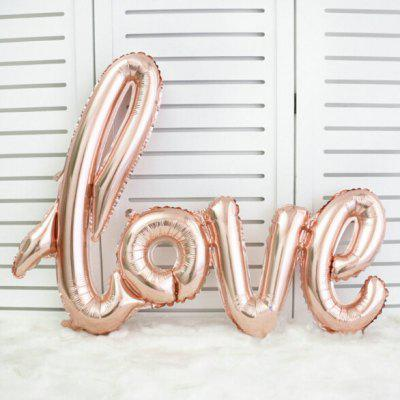 Siamese Love Letter Aluminum Film BalloonOther holiday and party supplies<br>Siamese Love Letter Aluminum Film Balloon<br><br>Package Contents: 1 x Foil Ballon<br>Package size (L x W x H): 15.00 x 10.00 x 5.00 cm / 5.91 x 3.94 x 1.97 inches<br>Package weight: 0.1000 kg<br>Product size (L x W x H): 13.00 x 8.00 x 3.00 cm / 5.12 x 3.15 x 1.18 inches<br>Product weight: 0.0600 kg<br>Usage: Wedding