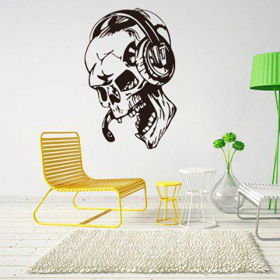 Buy BLACK Listing Music DIY Home Decor Wallpaper Wall Sticker Mural for $9.06 in GearBest store