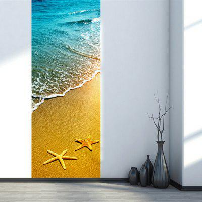 DM003 3D New Self Adhesive Sand Beach Door Sticker