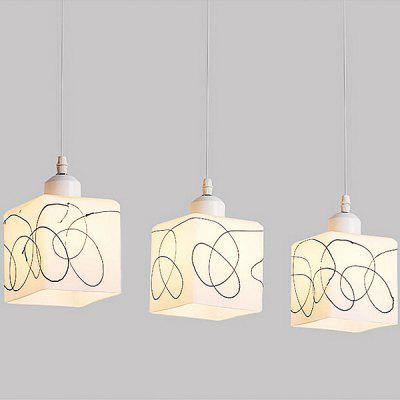 E27 3 Lights Simple Glass Pendant Lighting