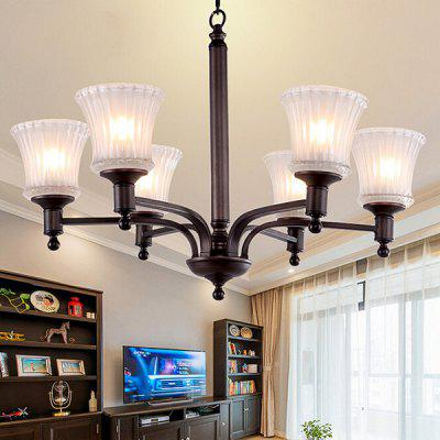 Modern Simple Nordic Iron Glass Art Chandelier 110 - 240VChandelier<br>Modern Simple Nordic Iron Glass Art Chandelier 110 - 240V<br><br>Battery Included: No<br>Bulb Base: E27<br>Bulb Included: No<br>Chain / Cord Length ( CM ): 50cm<br>Features: Candle Style<br>Fixture Height ( CM ): 50cm<br>Fixture Length ( CM ): 70cm<br>Fixture Width ( CM ): 70cm<br>Light Direction: Ambient Light<br>Number of Bulb: 6 Bulbs<br>Number of Bulb Sockets: 6<br>Package Contents: 1 x Light, 1 x Assembly Parts<br>Package size (L x W x H): 80.00 x 80.00 x 55.00 cm / 31.5 x 31.5 x 21.65 inches<br>Package weight: 11.0500 kg<br>Product weight: 10.0000 kg<br>Shade Material: Glass, Iron<br>Style: Modern/Contemporary<br>Suggested Room Size: 20 - 30?<br>Suggested Space Fit: Indoors<br>Type: Chandeliers<br>Voltage ( V ): AC110 - 240