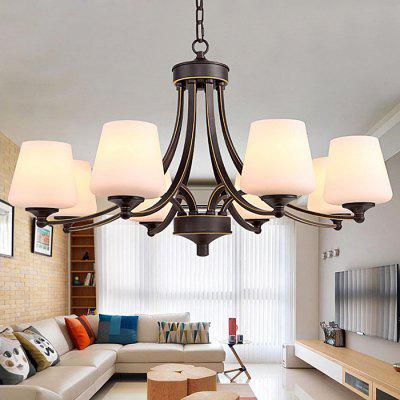 American Iron Fashion Creative Glass Chandelier 220VChandelier<br>American Iron Fashion Creative Glass Chandelier 220V<br><br>Battery Included: No<br>Bulb Base: E27<br>Bulb Included: No<br>Features: Designers<br>Fixture Height ( CM ): 42cm<br>Fixture Length ( CM ): 79cm<br>Fixture Width ( CM ): 79cm<br>Light Direction: Ambient Light<br>Number of Bulb: 8 Bulbs<br>Number of Bulb Sockets: 8<br>Package Contents: 1 x Light, 1 x Assembly Parts<br>Package size (L x W x H): 89.00 x 89.00 x 48.00 cm / 35.04 x 35.04 x 18.9 inches<br>Package weight: 9.0500 kg<br>Product weight: 8.0000 kg<br>Shade Material: Glass, Iron<br>Style: Modern/Contemporary<br>Suggested Room Size: 20 - 30?<br>Suggested Space Fit: Indoors<br>Type: Chandeliers<br>Voltage ( V ): AC220