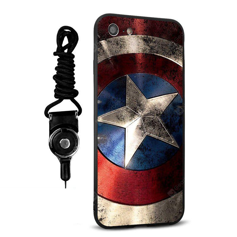 Emboss Cartoon Silicone Lanyard Phone Case pour iPhone 7