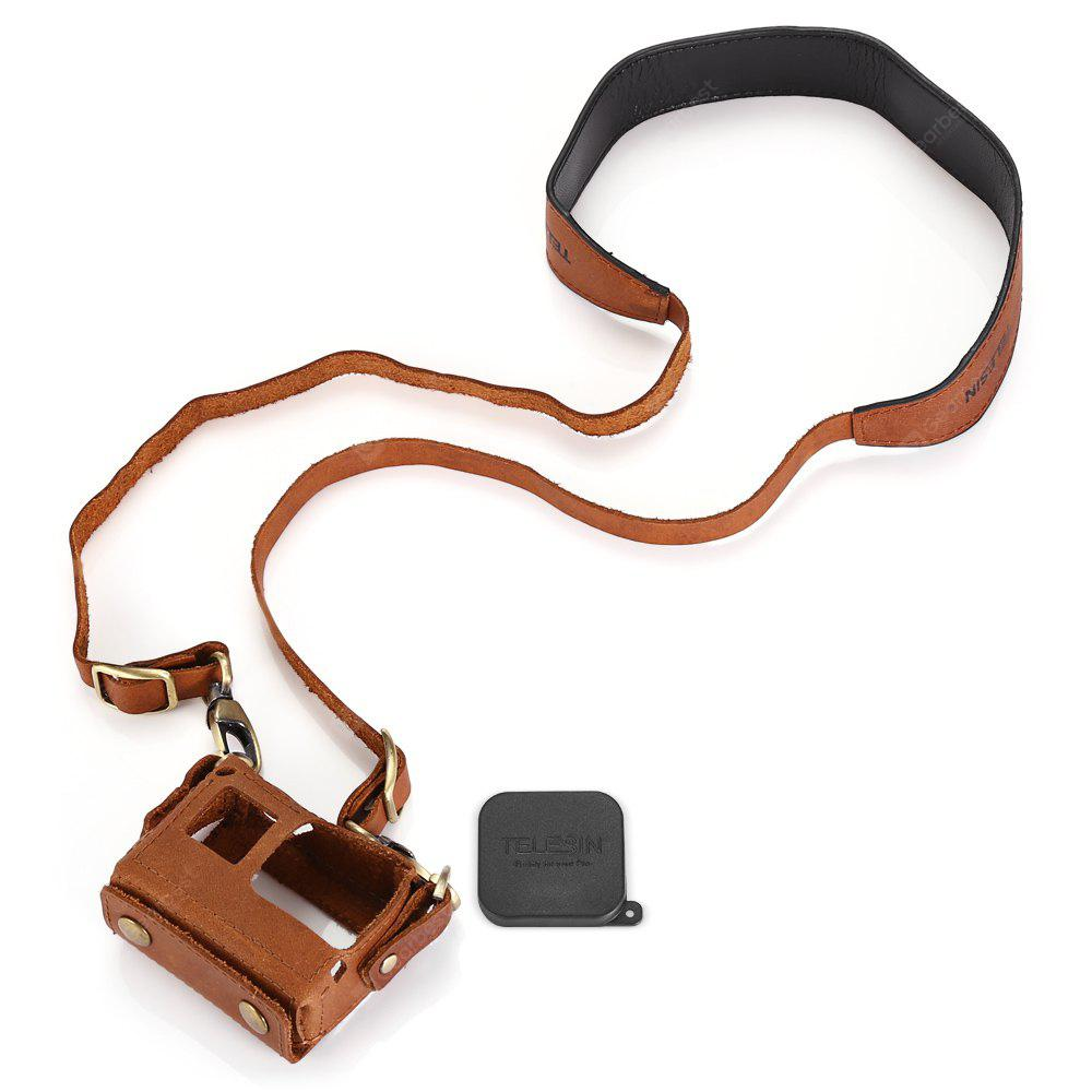 TELESIN Action Camera Protective Leather Case