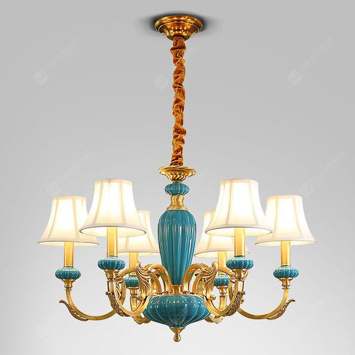 COPPER COLOR DJB1040 Full Copper Six Head Chandelier 220V