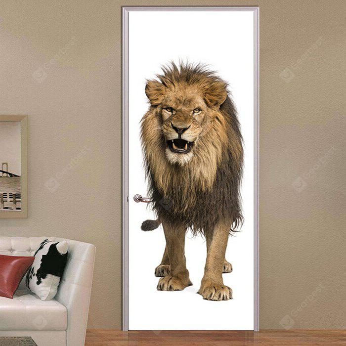3D Self Adhesive Lion Door Sticker