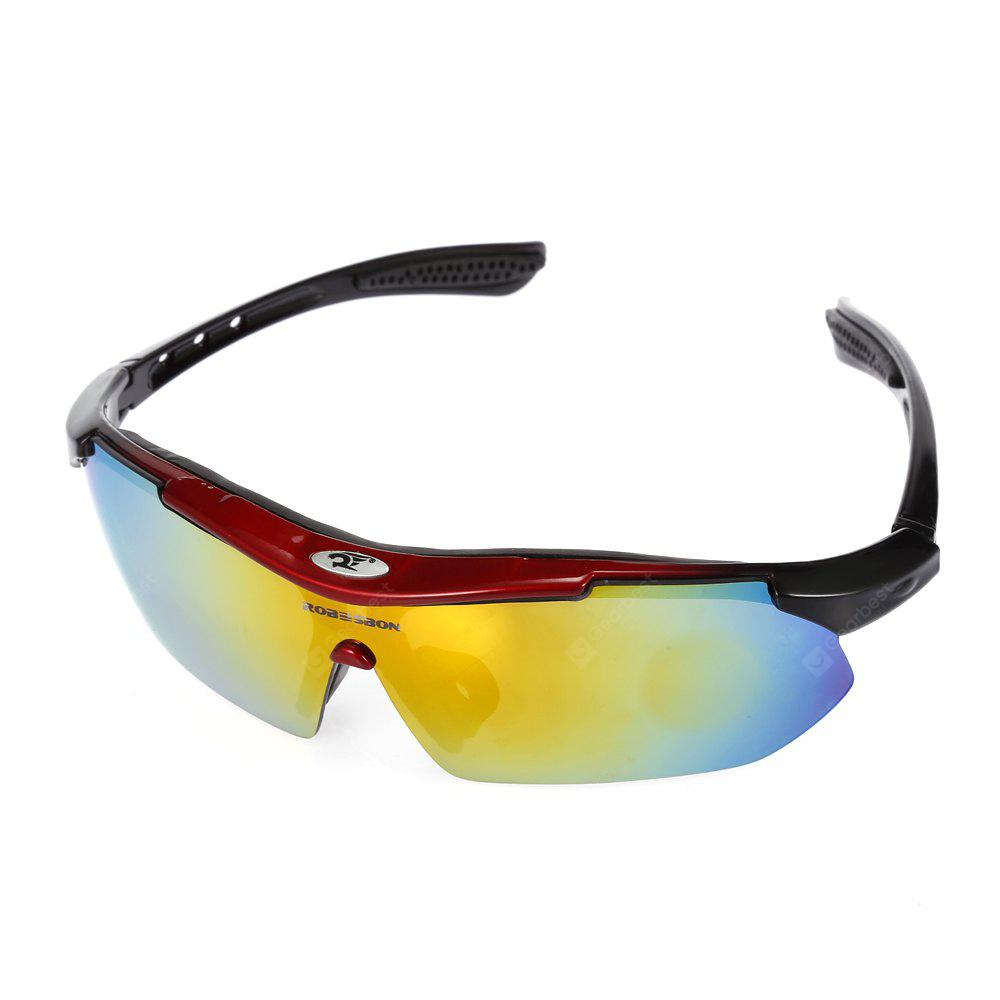 Robesbon 5 Replacement Lenses PC Cycling Glasses