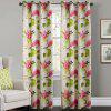 Ink-jet Printing Flowers / Leaves Window Curtains 52 x 63 inch - COLORMIX