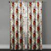 Ink-jet Printing Elegant Flowers Window Curtains 52 x 63 inch - COLORMIX