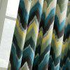 Ink-jet Printing Wave Pattern Window Curtains 52 x 63 inch - COLORMIX