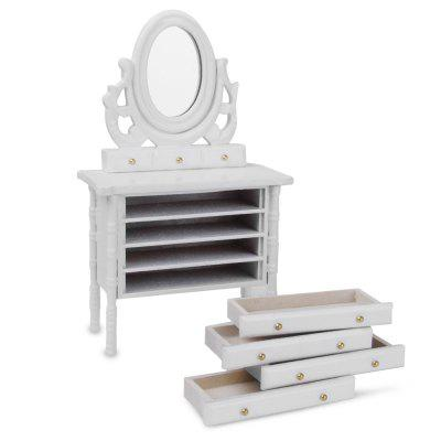 1:12 Scale Dollhouse Miniature Wooden Dressing TablePretend Play<br>1:12 Scale Dollhouse Miniature Wooden Dressing Table<br><br>Available Color: White<br>Material: Wood<br>Package Contents: 1 x Dressing Table<br>Package size (L x W x H): 14.00 x 6.00 x 15.00 cm / 5.51 x 2.36 x 5.91 inches<br>Package weight: 0.1850 kg<br>Product size (L x W x H): 12.20 x 4.50 x 13.00 cm / 4.8 x 1.77 x 5.12 inches<br>Product weight: 0.1570 kg<br>Type: Pretend Play