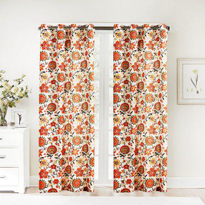 Ink-jet Printing Sweet Flowers Window Curtains 52 x 84 inch
