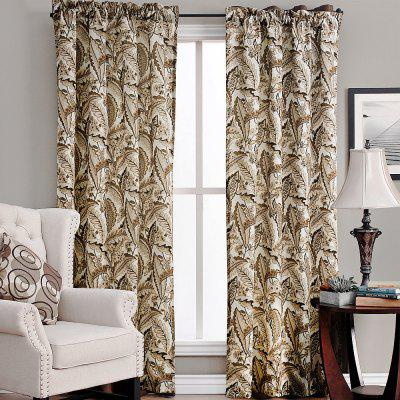Ink-jet Printing Vivid Leaves Window Curtains 52 x 96 inch