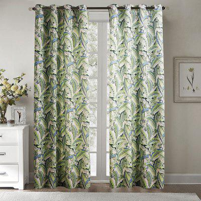 Ink-jet Printing Fresh Leaves Window Curtains 52 x 84 inch