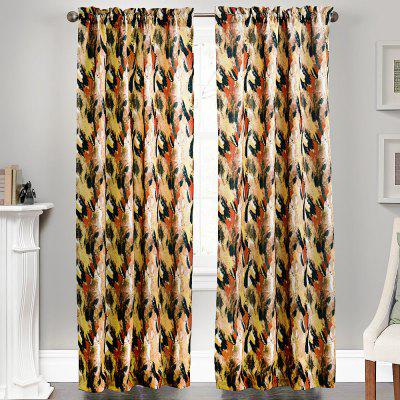 Ink-jet Printing Splendid Pattern Window Curtains 52 x 84 inch