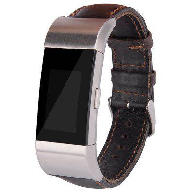 Crazy Horse Leather Watchband for Fitbit Charge 2