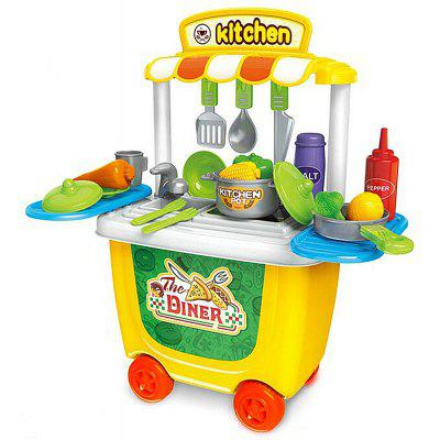 Kitchen Cart ABS Toy Set