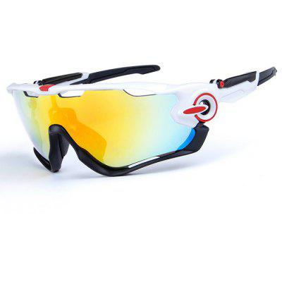 Buy WHITE AND BLACK OBAOLAY O9270 3-replacement-lens Polarized Cycling Glasses for $17.87 in GearBest store