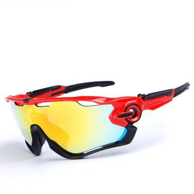 Buy RED WITH BLACK OBAOLAY O9270 3-replacement-lens Polarized Cycling Glasses for $17.87 in GearBest store