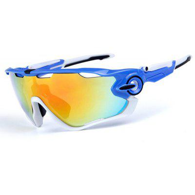 Buy BLUE AND WHITE OBAOLAY O9270 3-replacement-lens Polarized Cycling Glasses for $17.87 in GearBest store