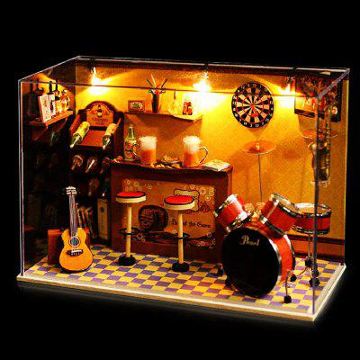 Wooden Music Pub DIY KitDoll House<br>Wooden Music Pub DIY Kit<br><br>Completeness: Semi-finished Product<br>Gender: Unisex<br>Materials: Electronic Components, Wood, Other<br>Package Contents: 1 x Miniature Pub DIY Kit<br>Package size: 20.00 x 11.00 x 15.00 cm / 7.87 x 4.33 x 5.91 inches<br>Package weight: 0.9800 kg<br>Product size: 19.60 x 10.00 x 13.50 cm / 7.72 x 3.94 x 5.31 inches<br>Product weight: 0.8500 kg<br>Theme: Music,Other