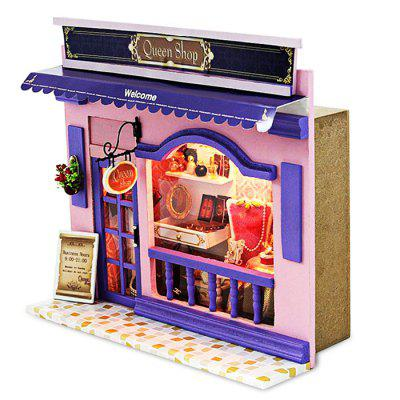 Fancy Miniature Wooden Queen Shop DIY KitDoll House<br>Fancy Miniature Wooden Queen Shop DIY Kit<br><br>Completeness: Semi-finished Product<br>Gender: Unisex<br>Materials: Electronic Components, Wood, Other<br>Package Contents: 1 x Miniature Shop DIY Kit<br>Package size: 21.00 x 21.00 x 9.00 cm / 8.27 x 8.27 x 3.54 inches<br>Package weight: 0.0950 kg<br>Product size: 20.00 x 9.00 x 20.00 cm / 7.87 x 3.54 x 7.87 inches<br>Product weight: 0.0400 kg<br>Theme: Other