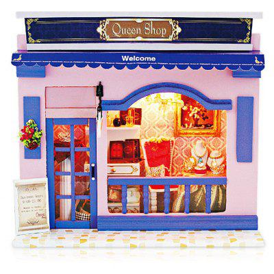 Fancy Miniatur Wooden Queen Shop DIY Kit