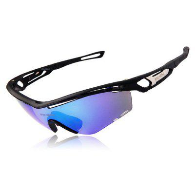 Buy BLACK WOLFBIKE BYJ 015 3 Lenses Polarized Cycling Glasses for $13.36 in GearBest store