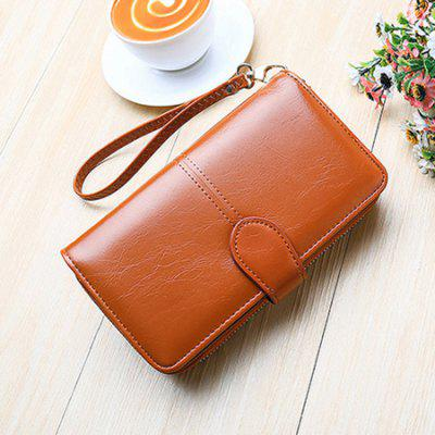 Compact PU Leather Long Women WalletWallets<br>Compact PU Leather Long Women Wallet<br><br>Closure Type: Zipper &amp; Hasp<br>Material: PU<br>Package Size(L x W x H): 20.00 x 4.00 x 12.00 cm / 7.87 x 1.57 x 4.72 inches<br>Package weight: 0.3300 kg<br>Packing List: 1 x Wallet<br>Product Size(L x W x H): 19.00 x 3.50 x 11.00 cm / 7.48 x 1.38 x 4.33 inches<br>Product weight: 0.2000 kg<br>Style: Fashion<br>Type: Wallet