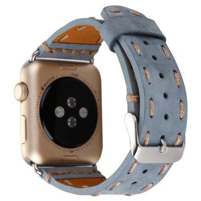 Cowhide Leather Stitching Watchband Wrist Band for Apple Watch 38mm