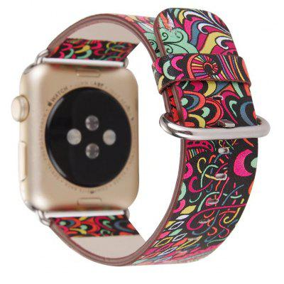 Traditional Retro Leather Watchband Wrist Band for Apple Watch 38mm