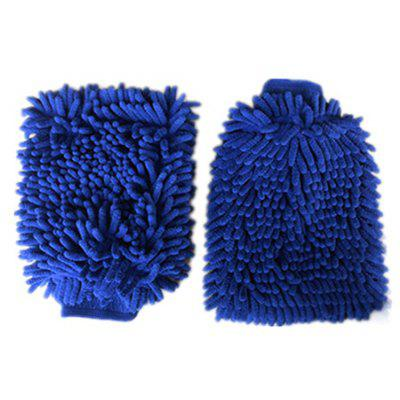 Buy BLUE Car Washing Mitt Towel Glove for $2.92 in GearBest store