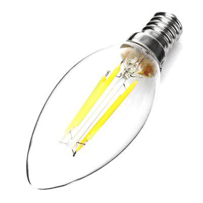 E14 C35 4W C35 3000K 400Lm LED Filament Bulb AC 220Edison Bulbs<br>E14 C35 4W C35 3000K 400Lm LED Filament Bulb AC 220<br><br>Available Light Color: Warm White<br>CCT/Wavelength: 3000K<br>Features: Long Life Expectancy, Low Power Consumption<br>Function: Commercial Lighting, Home Lighting<br>Holder: E14<br>Luminous Flux: 400Lm<br>Output Power: 4W<br>Package Contents: 1 x E14 LED Filament Bulb<br>Package size (L x W x H): 4.00 x 4.00 x 14.00 cm / 1.57 x 1.57 x 5.51 inches<br>Package weight: 0.0500 kg<br>Product size (L x W x H): 3.00 x 3.00 x 10.00 cm / 1.18 x 1.18 x 3.94 inches<br>Product weight: 0.0120 kg<br>Sheathing Material: Aluminum, Plastic<br>Total Emitters: 4<br>Type: Candle Bulbs<br>Voltage (V): 220V