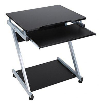 computer desk table keyboard shelf stand rolling laptop online shopping. Black Bedroom Furniture Sets. Home Design Ideas