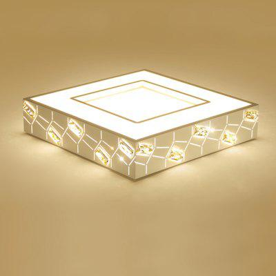 Brelong Inlaid Crystal LED Ceiling Light 100 - 240VCeiling Lights<br>Brelong Inlaid Crystal LED Ceiling Light 100 - 240V<br><br>Brand: BRELONG<br>Features: Square Shape, Remote-Controlled, Dimmable<br>Illumination Field: 15 - 20sqm<br>LED Number : 72<br>Luminous Flux: 3300lm<br>Optional Light Color: Warm White + White<br>Package Contents: 1 x Ceiling Light, 1 x Remote Controller<br>Package size (L x W x H): 55.00 x 55.00 x 15.00 cm / 21.65 x 21.65 x 5.91 inches<br>Package weight: 4.4500 kg<br>Product size (L x W x H): 48.00 x 48.00 x 10.00 cm / 18.9 x 18.9 x 3.94 inches<br>Product weight: 3.9000 kg<br>Sheathing Material: PVC<br>Type: Ceiling Lights<br>Voltage (V): AC 100 - 240V<br>Wattage (W): 36W<br>Wavelength / CCT: 3000-6500K