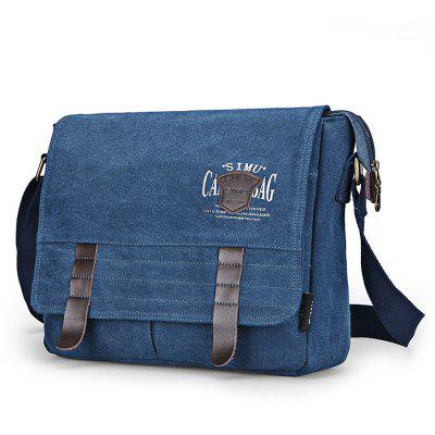 Buy BLUE SIMU Retro Nylon Canvas Business Shoulder Bag for $32.84 in GearBest store