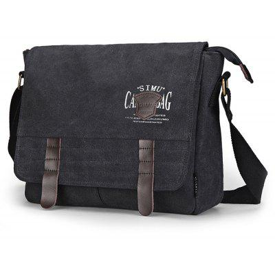 Buy BLACK SIMU Retro Nylon Canvas Business Shoulder Bag for $32.84 in GearBest store
