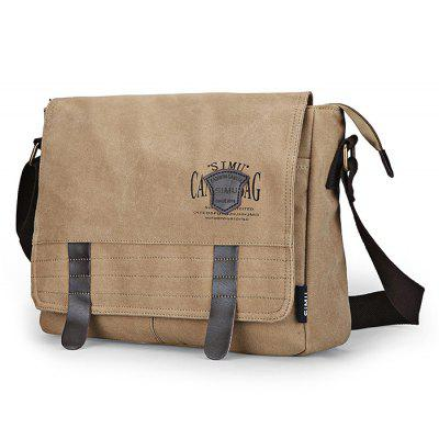 Buy KHAKI SIMU Retro Nylon Canvas Business Shoulder Bag for $32.84 in GearBest store