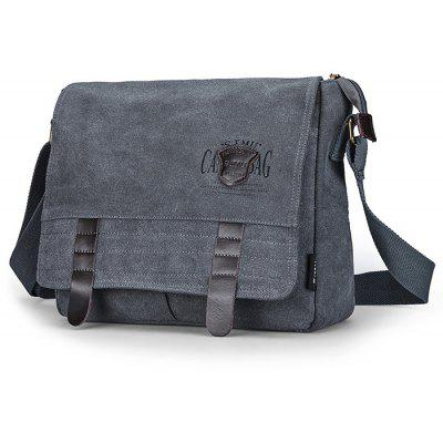 Buy LIGHT GREY SIMU Retro Nylon Canvas Business Shoulder Bag for $22.69 in GearBest store