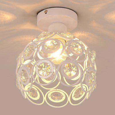 YQ6623 - 1X  White Crystal Ceiling Light 220 - 240VPendant Light<br>YQ6623 - 1X  White Crystal Ceiling Light 220 - 240V<br><br>Beam Angle: 360 degree<br>Illumination Field: 10sqm<br>Package Contents: 1 x Chandelier, 1 x English Installation Manual, 1 x Installation Kit, 1 x Spare Parts<br>Package size (L x W x H): 25.00 x 25.00 x 17.00 cm / 9.84 x 9.84 x 6.69 inches<br>Package weight: 1.6300 kg<br>Product size (L x W x H): 20.00 x 20.00 x 20.00 cm / 7.87 x 7.87 x 7.87 inches<br>Product weight: 1.0000 kg<br>Sheathing Material: Iron, Crystal<br>Type: Ceiling Lights<br>Voltage (V): AC 220-240